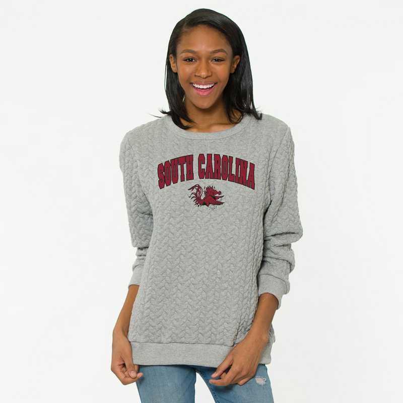 South Carolina Jenny Braided Jacquard Crewneck Sweatshirt by Flying Colors