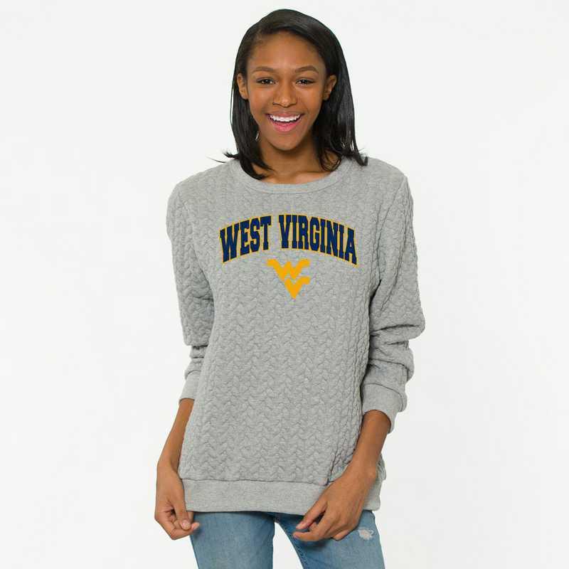 West Virginia  Jenny Braided Jacquard Crewneck Sweatshirt by Flying Colors