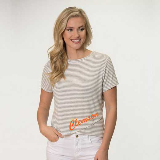 Clemson  Perry Zig Zag Tee by Flying Colors