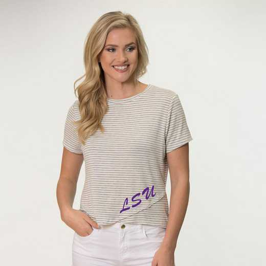 LSU Perry Zig Zag Tee by Flying Colors