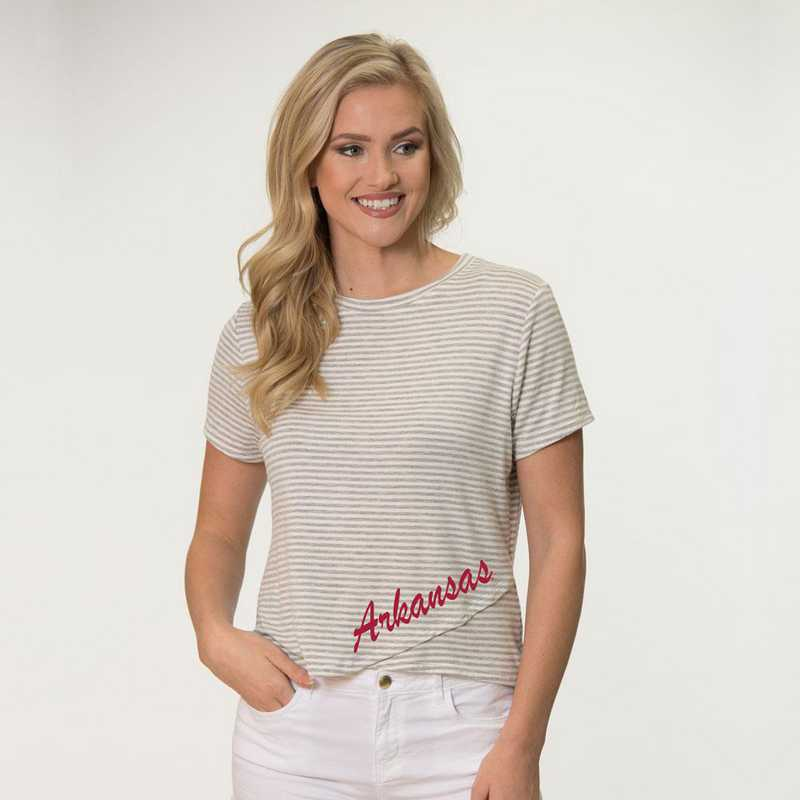 Arkansas  Perry Zig Zag Tee by Flying Colors