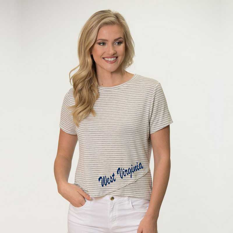 West Virginia Perry Zig Zag Tee by Flying Colors