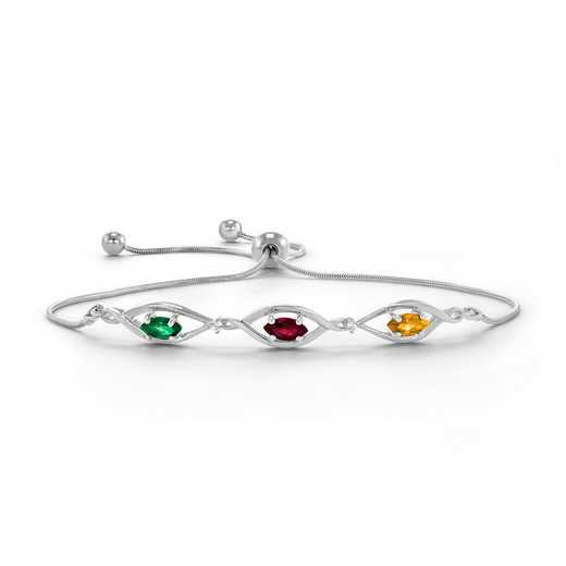Calla Three-Stone Personalized Bracelet
