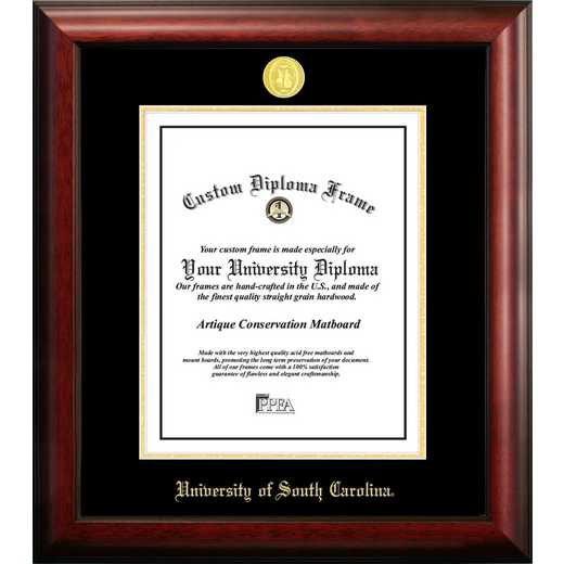 SC995GED-1114: University of South Carolina 11w x 14h Gold Embossed Diploma Frame