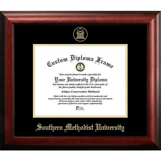 TX944GED-1185: Southern Methodist University 11w x 8.5h Gold Embossed Diploma Frame