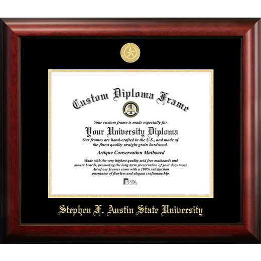 TX945GED-1411: Stephen F Austin 14w x 11h Gold Embossed Diploma Frame