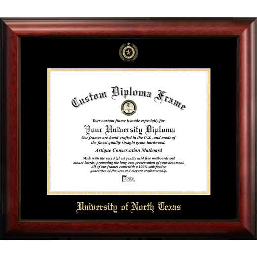 TX952GED-1411: University of North Texas 14w x 11h Gold Embossed Diploma Frame