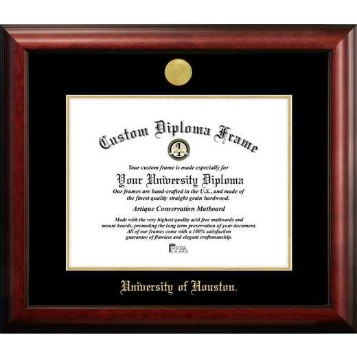 TX954GED-1411: University of Houston 14w x 11h Gold Embossed Diploma Frame