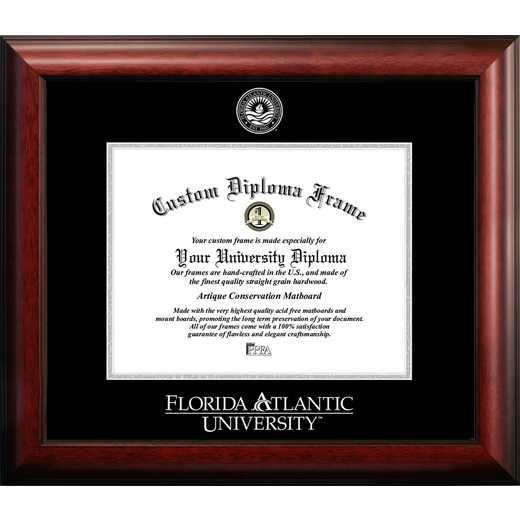 FL986GED-1185: Florida Atlantic University 11w x 8.5h Silver Embossed Diploma Frame
