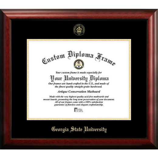 GA973GED-1714: Georgia State University 17w x 14h Gold Embossed Diploma Frame