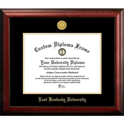 KY999GED-1512: Eastern Kentucky University 15w x 12h Gold Embossed Diploma Frame