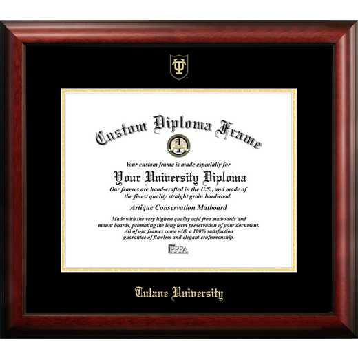 LA995GED-1714: Tulane University 17w x 14h Gold Embossed Diploma Frame