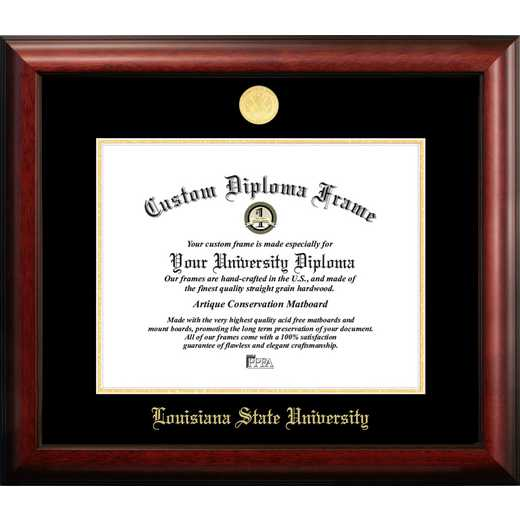 LA999GED-1411: Louisiana State University 14w x 11h Gold Embossed Diploma Frame