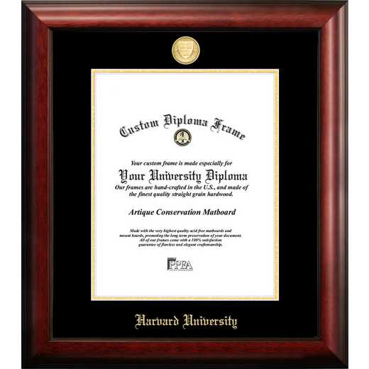 MA992GED-1114: Harvard University 11w x 14h Gold Embossed Diploma Frame