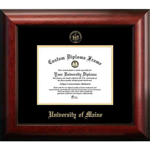 ME999GED-97: Maine University 9w x 7h Gold Embossed Diploma Frame