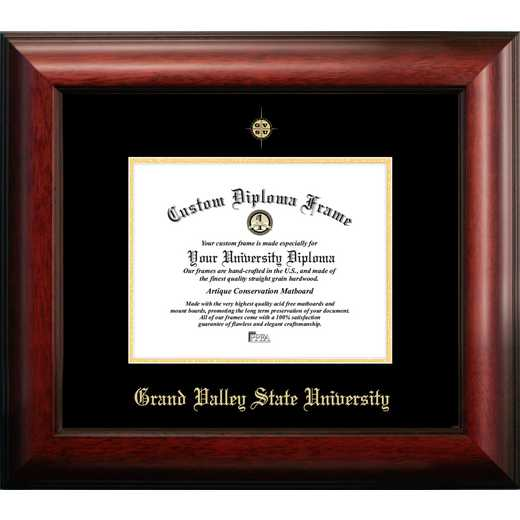 MI980GED-97: Grand Valley State University 9w x 7h Gold Embossed Diploma Frame