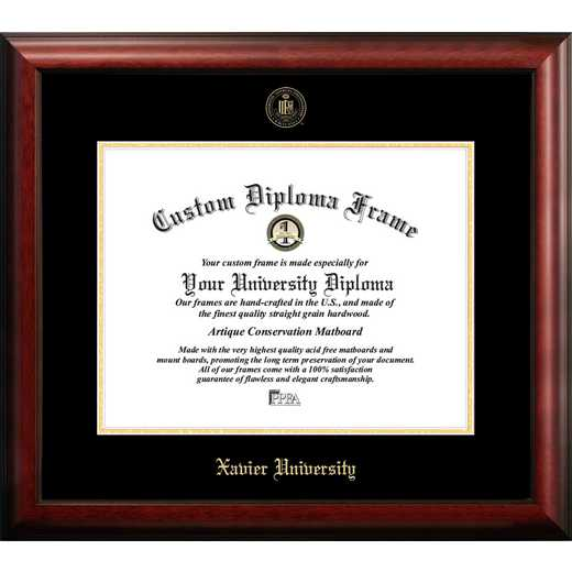 OH990GED-1814: Xavier University 18w x 14h Gold Embossed Diploma Frame