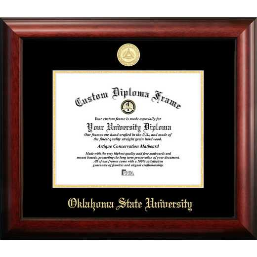 OK999GED-1185: Oklahoma State University 11w x 8.5h Gold Embossed Diploma Frame
