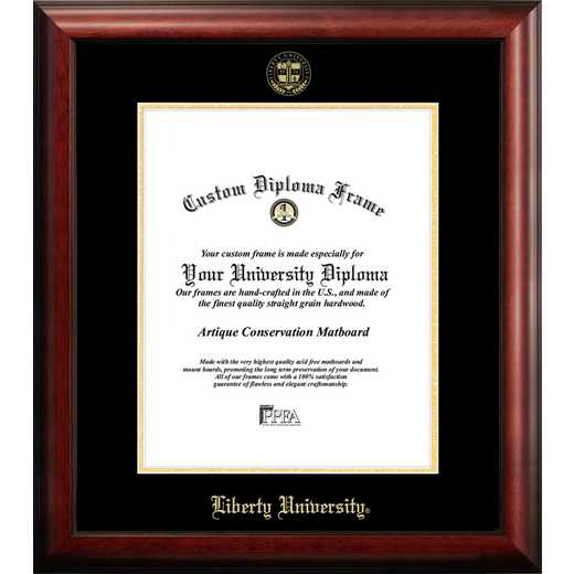 VA989GED-1417: Liberty University 14w x 17h Gold Embossed Diploma Frame