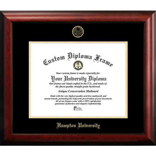 VA990GED-1411: Hampton University 14w x 11h Gold Embossed Diploma Frame