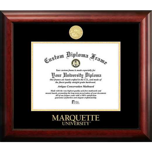 WI999GED-129: Marquette University 12w x 9h Gold Embossed Diploma Frame