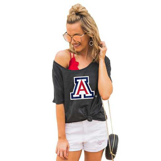 """Arizona Wildcats """"Vibing with you"""" Boyfriend Tee by Gameday Couture"""