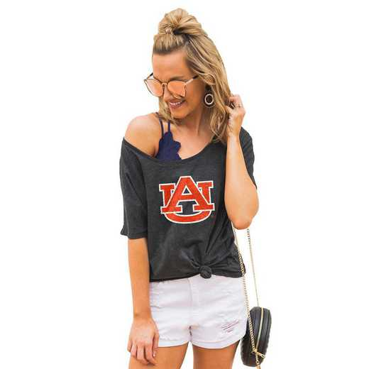 "Auburn Tigers ""Vibing with you"" Boyfriend Tee by Gameday Couture"