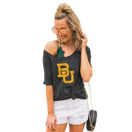 "Baylor Bears ""Vibing with you"" Boyfriend Tee by Gameday Couture"
