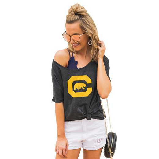 "California Golden Bears ""Vibing with you"" Boyfriend Tee by Gameday Couture"