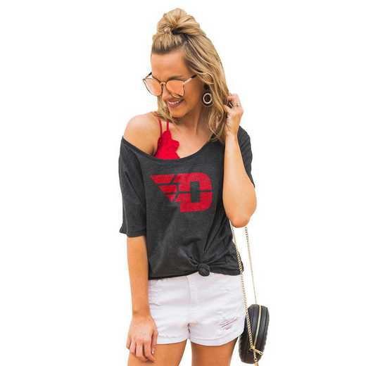"""Dayton Flyers """"Vibing with you"""" Boyfriend Tee by Gameday Couture"""