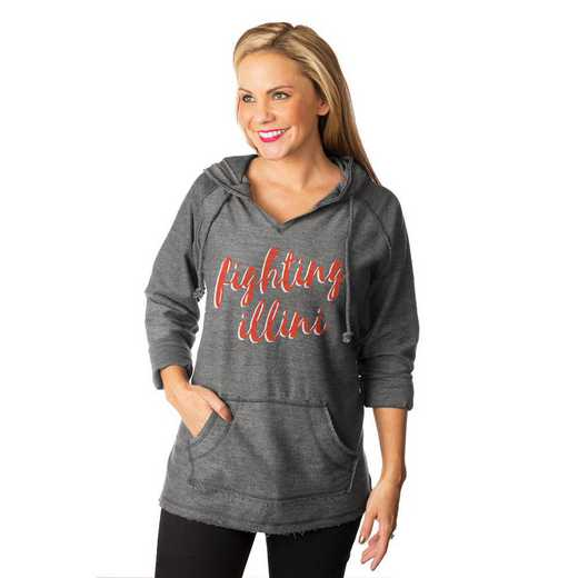 """Illinois Fighting Illini """"Keeping Cozy"""" French Terry Hooded Pullover By Gameday Couture"""