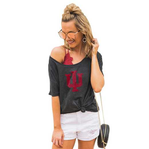 "Indiana Hoosiers ""Vibing with you"" Boyfriend Tee by Gameday Couture"