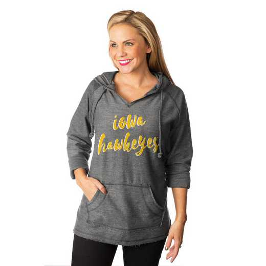 "Iowa Hawkeyes ""Keeping Cozy"" French Terry Hooded Pullover By Gameday Couture"