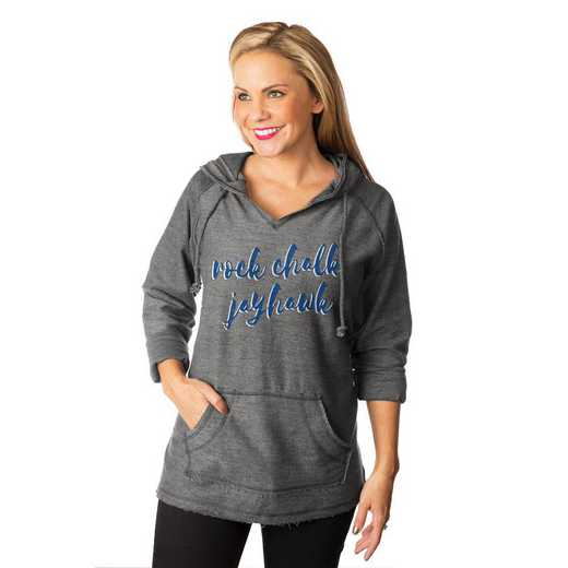 "Kansas Jayhawks ""Keeping Cozy"" French Terry Hooded Pullover By Gameday Couture"