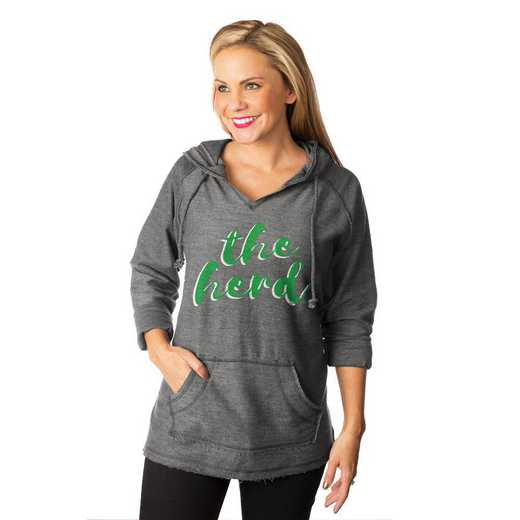 "Marshall Thundering Herd ""Keeping Cozy"" French Terry Hooded Pullover By Gameday Couture"