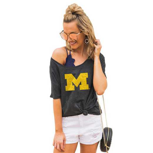 "Michigan Wolverines ""Vibing with you"" Boyfriend Tee by Gameday Couture"