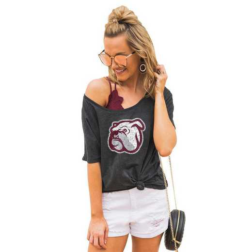 "Mississippi State Bulldogs ""Vibing with you"" Boyfriend Tee by Gameday Couture"