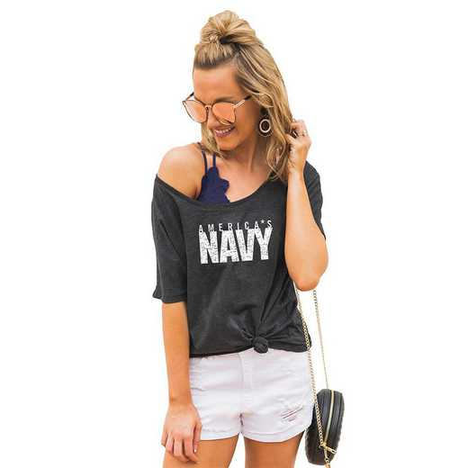 "Navy Midshipmen ""Vibing with you"" Boyfriend Tee by Gameday Couture"