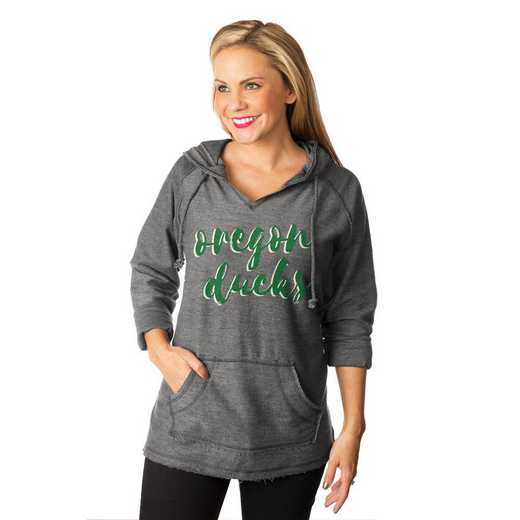 "Oregon Ducks ""Keeping Cozy"" French Terry Hooded Pullover By Gameday Couture"