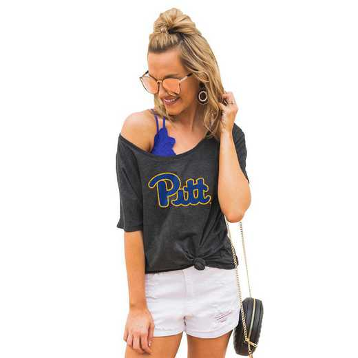 "Pittsburgh Panthers ""Vibing with you"" Boyfriend Tee by Gameday Couture"