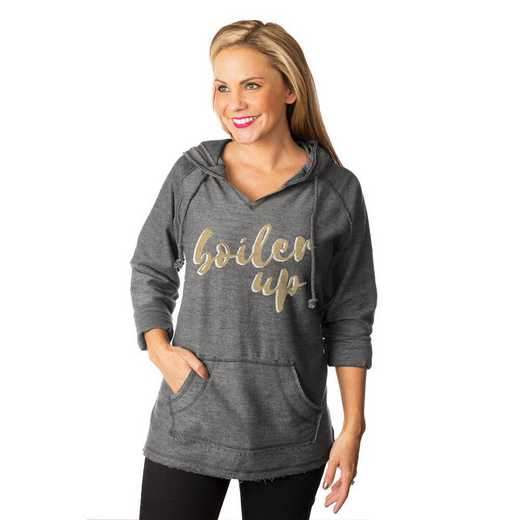 "Purdue Boilermakers ""Keeping Cozy"" French Terry Hooded Pullover By Gameday Couture"