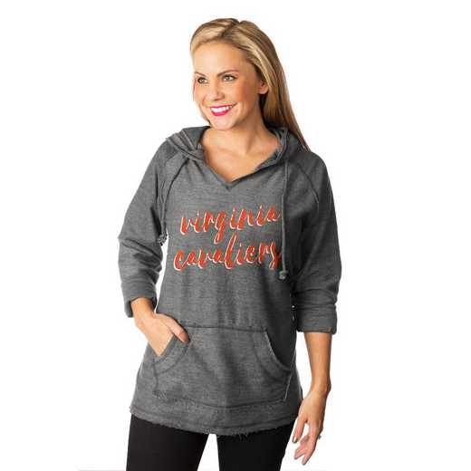"""Virginia Cavaliers """"Keeping Cozy"""" French Terry Hooded Pullover  By Gameday Couture"""