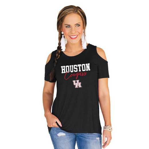 Houston Cougars Forever a Fan Cold Shoulder Top by Gameday Couture