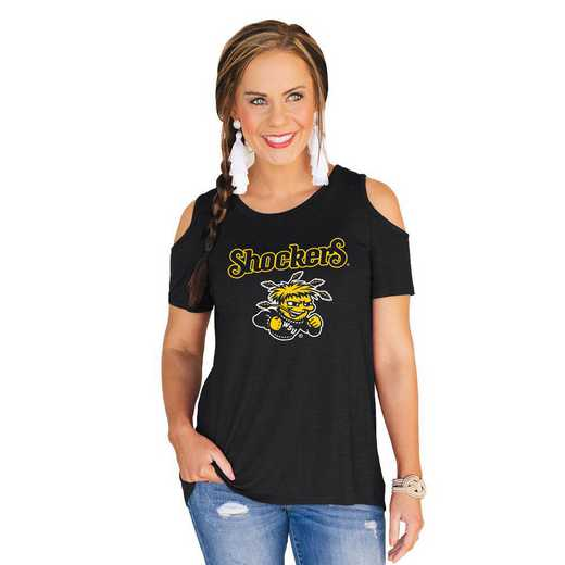 Wichita State Shockers Forever a Fan Cold Shoulder Top by Gameday Couture