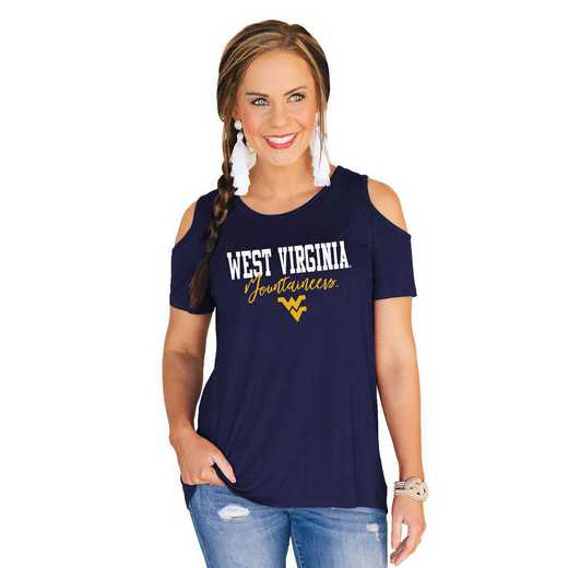 West Virginia Mountaineers Forever a Fan Cold Shoulder Top by Gameday Couture