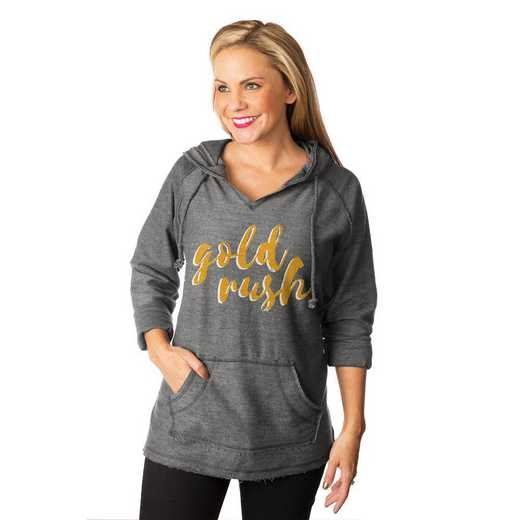 "West Virginia Mountaineers ""Keeping Cozy"" French Terry Hooded Pullover  By Gameday Couture"