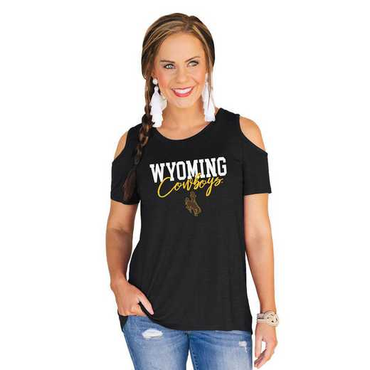 Wyoming Cowboys Forever a Fan Cold Shoulder Top by Gameday Couture