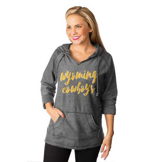 "Wyoming Cowboys ""Keeping Cozy"" French Terry Hooded Pullover  By Gameday Couture"