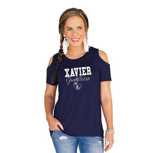 Xavier University Muskateers Forever a Fan Cold Shoulder Top by Gameday Couture