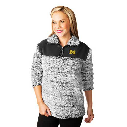 """Michigan Wolverines """"Winter Essential"""" Sherpa Pullover By Gameday Couture"""